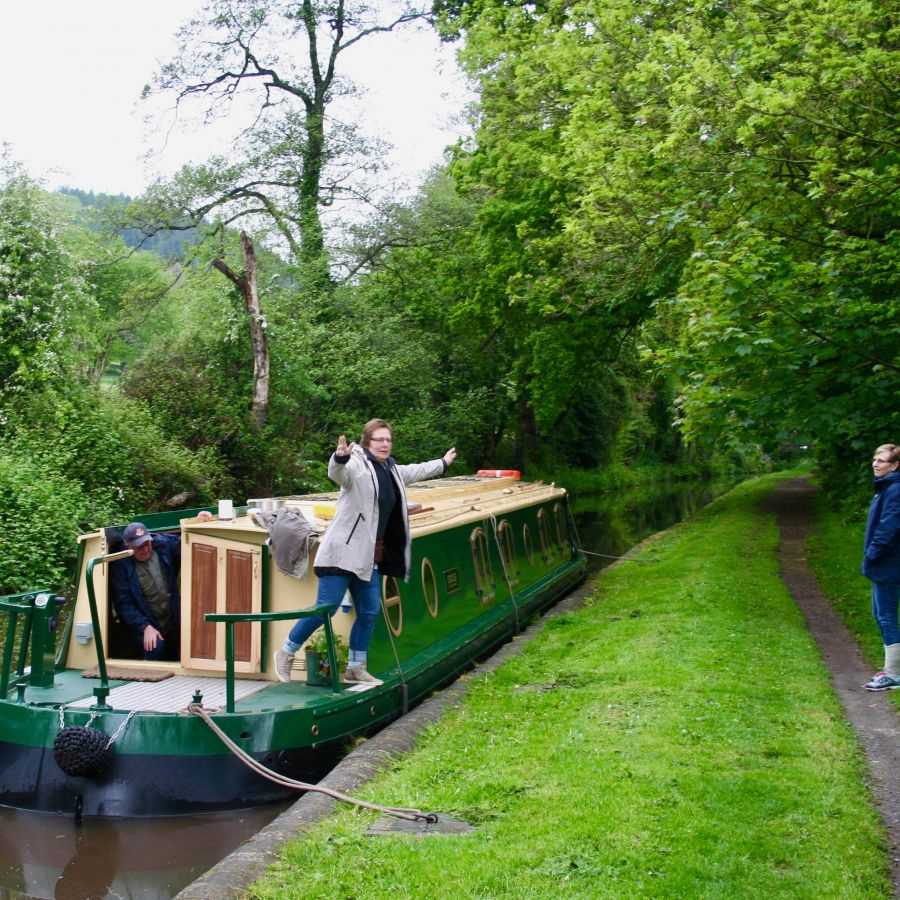 Grouse var en flott båt. Anne var fornøyd :-)